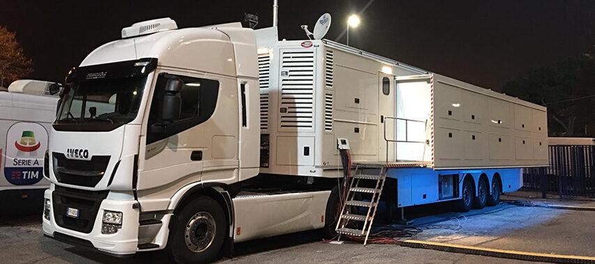 Ny Grass Valley 4K UHD HDR OB vogn(e) til Italien begge er i 28cam klassen