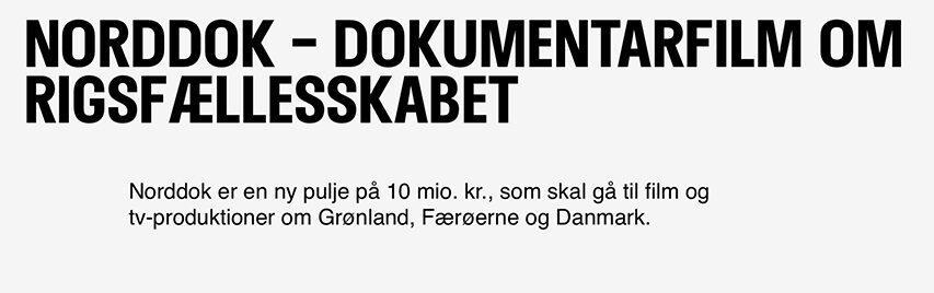 DFI og landefællesskabet Danmark Grønland og Færørerne har fundet 10 millioner til filmfolket
