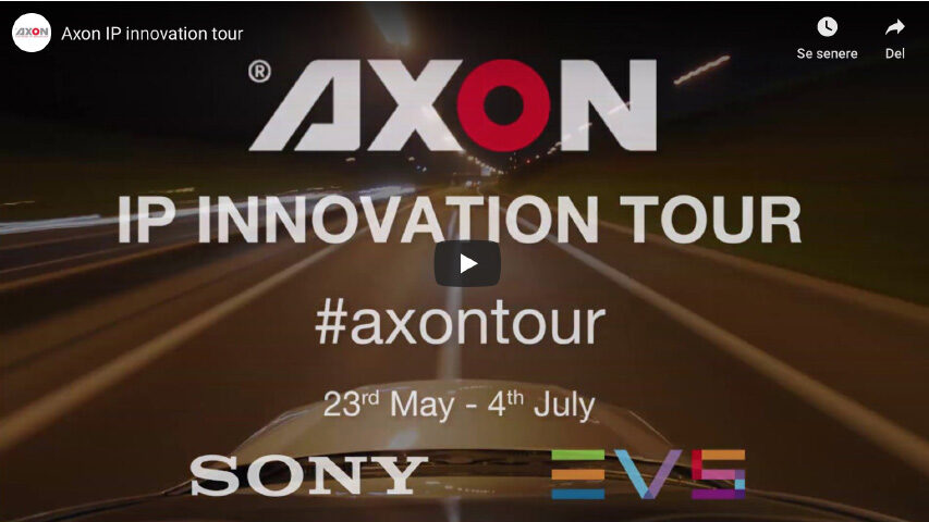 Axon besøger et par TV stationer for at vise nyeste IP gear frem - du ved SDI's afløser