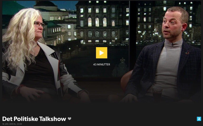 Det Politiske Talkshow flytter fra DR2 til DR1 - og får ny vært ind kommer Johannes Langkilde ud går Mette Vibe Utzon