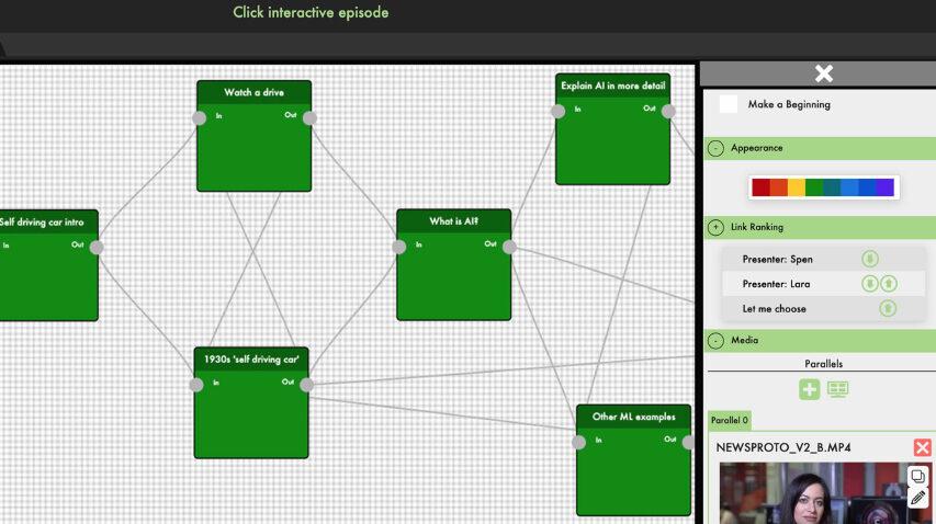 BBC RD er på vej med værktøjer der kan hjælpe den enkelte med at producere interaktivt indhold afstemt til seeren