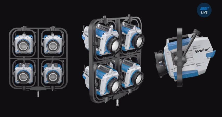 Arri frigiver Orbiter der er en slags fokuseret LED lampe der kan monteres andre reflektorer på